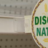 Self-Piercing Flag Grip Sign Holder - Clear Plastic - Channel Mount