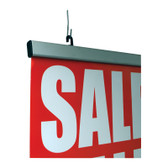 """Deluxe Hanging Banner Sign Display - Aluminum - 36""""w 1/Pack"""