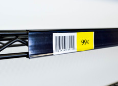 Metro Shelf Ticket holder - Price tag molding - Clear print protector