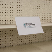 "Shelf Edge Sign Holder - Center Mount - 8.5""w x 5.5""h - APET Material"