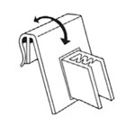 Flag Sign Gripper - Attaches to Ticket Holder Windows 100/Pack