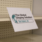 "Shelf Edge Sign Holder - Center Mount - 11""w x 8.5""h A-PET Plastic 25/Pack"