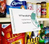 "Shelf Edge Sign Holder - Center Mount - 11""w x 8.5""h A-PET Plastic 25/Pack"
