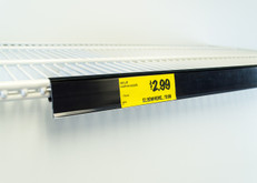 "Double wire cooler Shelf - Price Tag molding  - Black - 28""L"