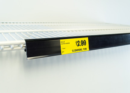 Price Tag Molding Ticket Holder For Double Wire Cooler