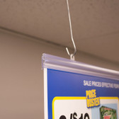 "Locking Poster Grip - Clear - 48""w 25/Pack"