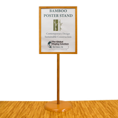 "Deluxe Bamboo Poster Stand - 22""w x 28""h 1/Pack"