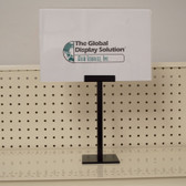 Table Top Pedestal Sign holder - Black Steel - 4/Pack