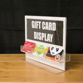 "Gift Card Holder and Sign Display - Display 11""w x 8.5""h Sign"