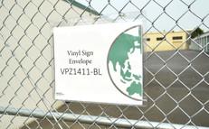 Outdoor vinyl sign envelope