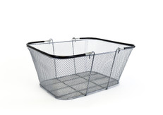 "Silver Mesh Wire Basket 16""w x 12"" H x 6.5"" D  10/Pack"