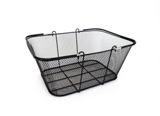 "Black Mesh Wire Basket 16""w x 12"" H x 6.5"" D"