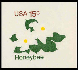 U.S. Scott # U 599 1980 15c Honeybee - Mint Cut Square