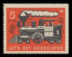 Associated Oil Company Poster Stamps of 1938-9 - #  5, The Iron Horse