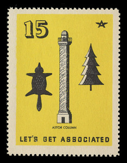Associated Oil Company Poster Stamps of 1938-9 - # 15, Astor Column