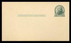 U.S. Scott # UX  27a, 1914 1c Thomas Jefferson, green on cream - Mint Postal Card (See Warranty)