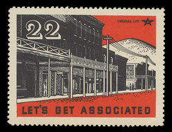 Associated Oil Company Poster Stamps of 1938-9 - # 22, Virginia City