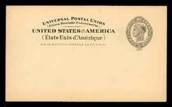 U.S. Scott # UX  16, 1898 2c Liberty Head, black on buff, no border - Mint Postal Card