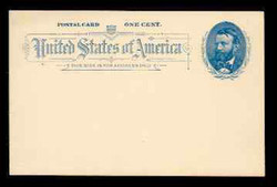 U.S. Scott # UX  11, 1891 1c Ulysses S. Grant, blue on grayish white - Mint Postal Card