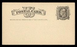 "U.S. Scott # UX   7, 1881 1c Liberty Head, black on buff - ""Nothing but the Address"" - Mint Postal Card"