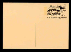 U.S. Scott # UX  63, 1972 6c Tourism - Gloucester, Massachusetts - Mint Postal Card