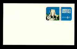 U.S. Scott # UX  60, 1971 6c America's Hospitals - 200th Anniv. New York Hospital - Mint Postal Card