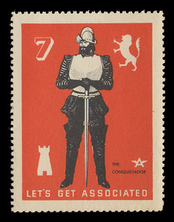 Associated Oil Company Poster Stamps of 1938-9 - #  7, The Conquistador