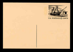 U.S. Scott # UX  61, 1972 6c Tourism - U.S.F. Constellation - Mint Postal Card