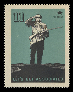 Associated Oil Company Poster Stamps of 1938-9 - # 11, The Scout
