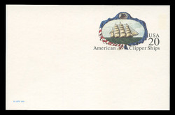 U.S. Scott # UX 220, 1995 20c American Clipper Ships - Mint Postal Card, DULL PAPER