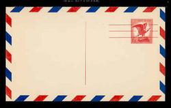 U.S. Scott # UXC  4/UPSS #SA4a UPSS 1963 6c Eagle, red on buff, Precancelled - Mint Postal Card, DULL PAPER