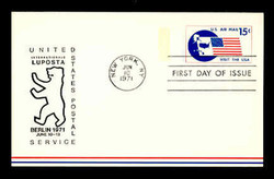 U.S. Scott # UXC 11LUP 1971 15c Visit the U.S.A., LUPOSTA '71 Overprint - FDC Only, No Mint - Show Logo Postal Card