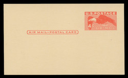 U.S. Scott # UXC  1 1949 4c Eagle, red orange on Buff - Mint Postal Card