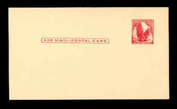 U.S. Scott # UXC  2 1958 5c Eagle, red on buff, no border - Mint Postal Card