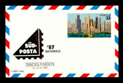 U.S. Scott # UXC 23SUD, 1986 33c AMERIPEX '86, SUDPOSTA '87 Overprint - Mint Show Logo Postal Card