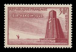 FRANCE Scott #  680, 1952 Monument, Bir-Hacheim Cemetery