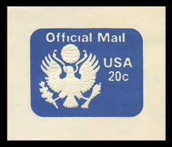 U.S. Scott # UO 073 1983 20c Official Mail - Mint Cut Square