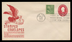 U.S. Scott #U533 2c Washington Envelope First Day Cover.  Anderson cachet, RED variety.
