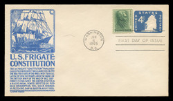 U.S. Scott #U549 4c Old Ironsides Envelope First Day Cover.  Anderson cachet, BLUE variety.