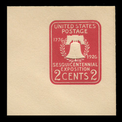 U.S. Scott # U 522a, 1926 2c Sesquicentennial Expposition Die 2 - Mint Full Corner