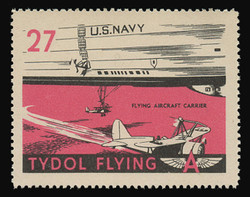 "Tydol Flying ""A"" Poster Stamps of 1940 - #27, Flying Aircraft Carrier"