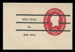 U.S. Scott # U 533cP, 1950 2c Washington, Die 4, Precancelled - Mint Full Corner