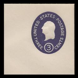 U.S. Scott # U 534, 1950 3c Washington, Die 4 - Mint Full Corner