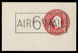 U.S. Scott # UC  8a 1945 6c on 2c (U429f) Washington, Die 7 - Mint Full Corner