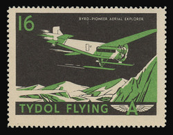 "Tydol Flying ""A"" Poster Stamps of 1940 - #16, Byrd - Pioneer Aerial Explorer"