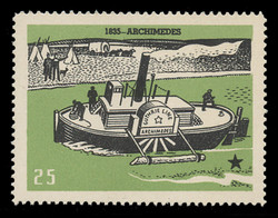 Chicagoland Poster Stamps of  1938 - # 25 Archimedes, 1835