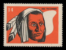 Chicagoland Poster Stamps of  1938 - # 14 Tecumseh, 1803