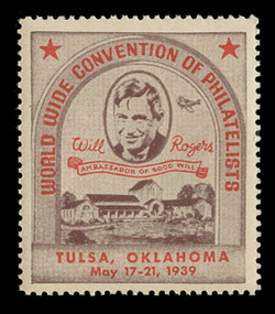 1939 (001) Tulsa, Oklahoma Workld Wide Convention of Philatelists poster Stamps