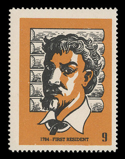 Chicagoland Poster Stamps of  1938 - #  9 First Resident, 1784