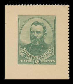 U.S. Scott # U 293, 1886 2c Grant Cut Square from Letter Sheet - Mint Cut Square